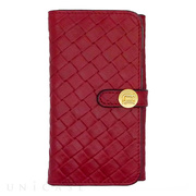 【iPhone6s/6 ケース】Luxe Exotic Female Wallet Weave (Red)