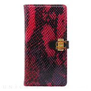 【iPhone6s/6 ケース】Luxe Exotic Slider Leather Wallet Snake (Red)