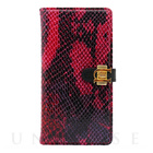 【iPhone6s Plus/6 Plus ケース】Luxe Exotic Slider Leather Wallet (Snake Red)【レザー】