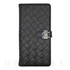 【iPhone6s Plus/6 Plus ケース】Luxe Exotic Slider Leather Wallet (Weave Black)【レザー】