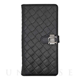 【iPhone6s Plus/6 Plus ケース】Luxe Exotic Slider Leather Wallet (Weave Black)
