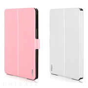 【iPad mini3/2/1 ケース】Dual Face Flip Case SYKES BASIC Pale Pink/Sugar White