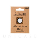 【Touch ID対応ホームボタンシール】iCharm Home Button Accessory Aluminium Ring for iPhone ホワイト×ブラック