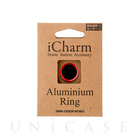 【Touch ID対応ホームボタンシール】iCharm Home Button Accessory Aluminium Ring for iPhone ブラック×レッド
