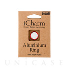 【Touch ID対応ホームボタンシール】iCharm Home Button Accessory Aluminium Ring for iPhone ホワイト×レッド