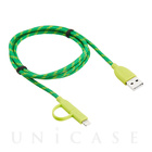 【Lightning/MicroUSBケーブル MFi取得】Duo-cable  Lightning&microUSB (Green)