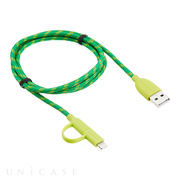 Duo-cable  Lightning&microUSB (Green)