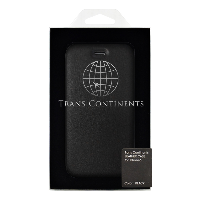 【iPhone6s/6 ケース】TRANS CONTINENTS LEATHER CASE for iPhone6s/6 (Black)サブ画像