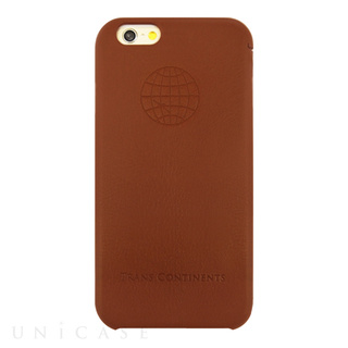 TRANS CONTINENTS(トランスコンチネンツ) 【iPhone6s/6 ケース】TRANS CONTINENTS LEATHER CASE for iPhone6s/6 (Brown)