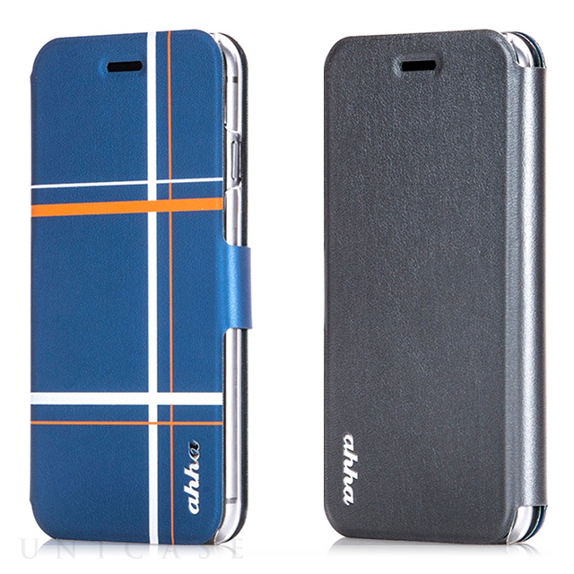 【iPhone6s Plus/6 Plus ケース】Dual Face Flip Case SYKES MIX Blue Checker/Space Grey