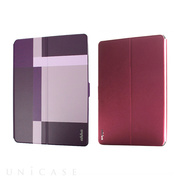 【iPad Air2 ケース】Dual Face Flip Case SYKES MIX Purple Checker/Metallic Red