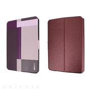 【iPad mini3/2/1 ケース】Dual Face Flip Case SYKES MIX Purple Checker/Metallic Red