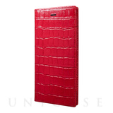 【iPhone6s Plus/6 Plus ケース】Croco Patterned Full Leather Case (Red)