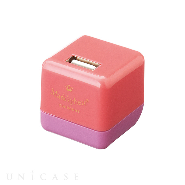 USB充電器/マークスフィア(ピンク&パープル)