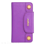【iPhone6s/6 ケース】Sarina Series - BonBon Collection Flap Type Phone Case (Purple)