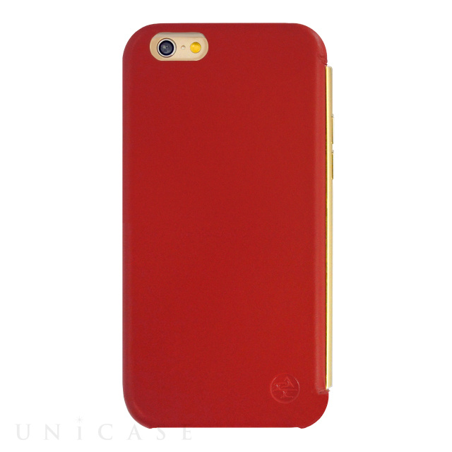 【限定】【iPhone6s/6 ケース】amadana LEATHER CASE for iPhone6s/6(RED)