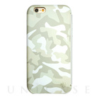 【限定】【iPhone6s/6 ケース】amadana LEATHER CASE for iPhone6s/6(WHITE X CAMO)