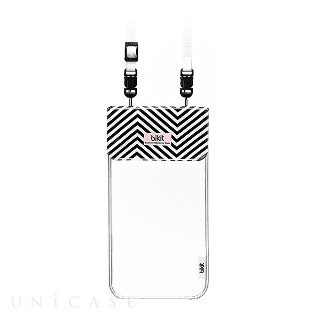 【スマホポーチ】bikit スマートフォン用ファッション防水ポーチ (ブラック&ホワイト)