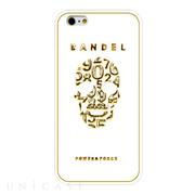 【iPhone6s Plus/6 Plus ケース】BANDEL Skull (White×Gold)