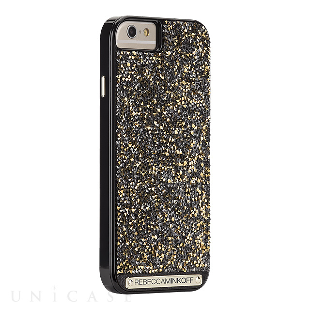 b71d7d8776 ... 【iPhone6s/6 ケース】REBECCAMINKOFF Gold Brilliance Black Gloss/Gold Crystals  ...