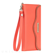 【iPhone6s/6 ケース】REBECCAMINKOFF Leather Folio Wristlet (Coral)