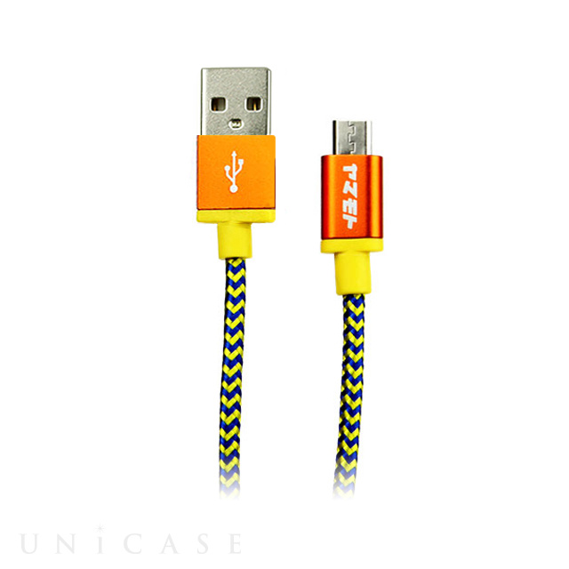 POP Cable Micro USB - ORANGE/YELLOW