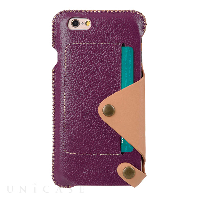 【iPhone6s/6 ケース】Premium Leather Case Latina Series (Purple Lychee)