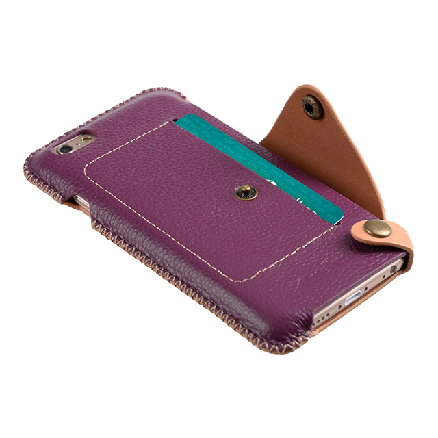 【iPhone6s/6 ケース】Premium Leather Case Latina Series (Purple Lychee)サブ画像