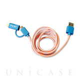 POP 2-IN-1 CHARGE CABLE(BLUE/ORANGE)