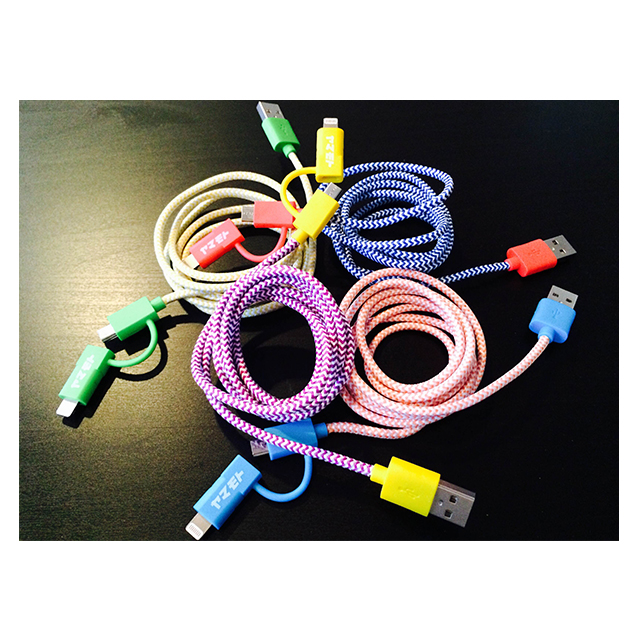 POP 2-IN-1 CHARGE CABLE(YELLOW/PURPLE)サブ画像