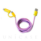 POP 2-IN-1 CHARGE CABLE(YELLOW/PURPLE)