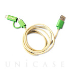 【Lightning/MicroUSBケーブル MFi取得】POP 2-IN-1 CHARGE CABLE(GREEN/YELLOW)