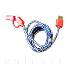 POP 2-IN-1 CHARGE CABLE(RED/BLUE)