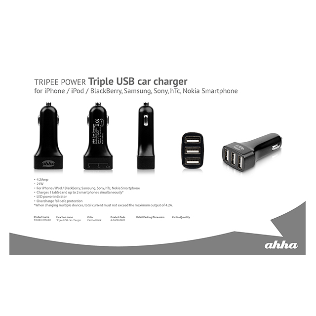 Triple USB Car Charger TRIPEEサブ画像