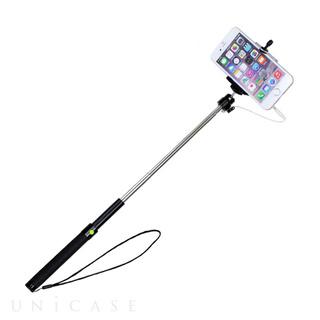 【自撮り棒】撮影スティック Selfie Stick (ブラック) [iPhone専用]