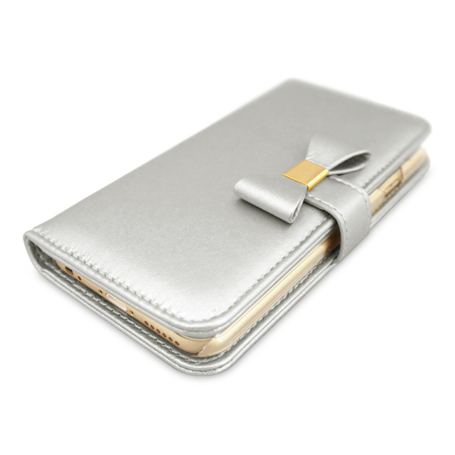【iPhone6s/6 ケース】Ribbon Diary Silver for iPhone6s/6サブ画像