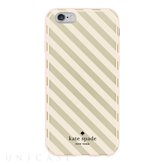 【iPhone6s/6 ケース】Flexible Hardshell (Diagonal Stripe Gold/Cream)