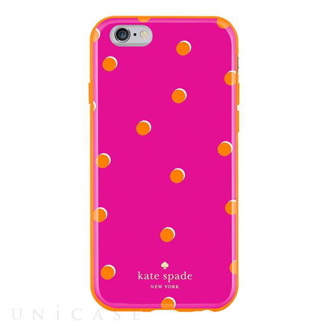【iPhone6s/6 ケース】Flexible Hardshell (Scattered Pavillion Pink/Orange)