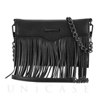 【iPhone7/6s/6 ケース】REBECCAMINKOFF Crossbody with Fringe (Black)
