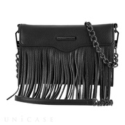 【iPhoneXS/X/8/7/6s/6 ケース】REBECCAMINKOFF Crossbody with Fringe (Black)