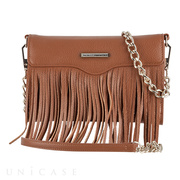 【iPhoneXS/X/8/7/6s/6 ケース】REBECCAMINKOFF Crossbody with Fringe (Almond)