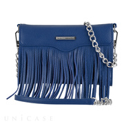【iPhoneXS/X/8/7/6s/6 ケース】REBECCAMINKOFF Crossbody with Fringe (Cobalt)