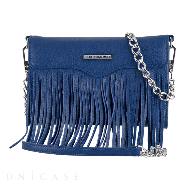【iPhone11 Pro/XS/X/SE(第2世代)/8/7/6s/6 ケース】REBECCAMINKOFF Crossbody with Fringe (Cobalt)
