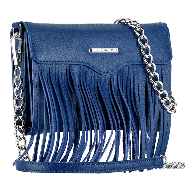 【iPhone11 Pro/XS/X/SE(第2世代)/8/7/6s/6 ケース】REBECCAMINKOFF Crossbody with Fringe (Cobalt)サブ画像
