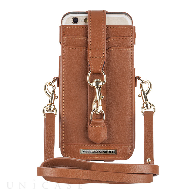 【iPhone6s/6 ケース】REBECCAMINKOFF Crossbody Sleeve with Dogclip & Crossbody Strap (Almond)
