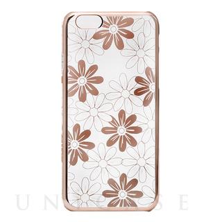 【iPhone6s/6 ケース】メタルデザインハードケース「Metal Design」 フラワー柄
