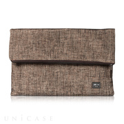 Tablet Clutch 11-13 inch HALEY, Metallic Brown