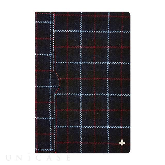 ... 【iPad mini4 ケース】フリップノートケース (ネイビーチェック) ...