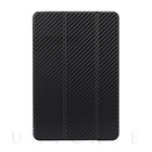 【iPad mini4 ケース】 CarbonLook SHELL with Front cover (ブラック)