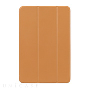 【iPad mini4 ケース】LeatherLook SHELL with Front cover (ブラウン)